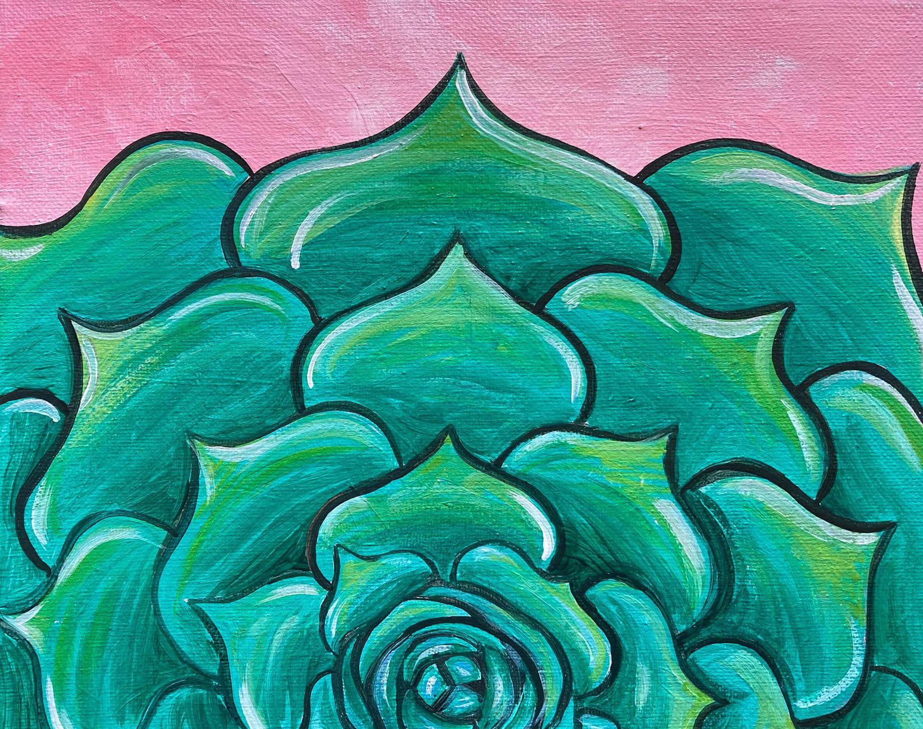 New Video Ep29 Simple Succulent Easy Succulent Cacti Painting Tutorial For Beginners Skye Pratt Teaching Artist